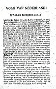 (Aan het Volk van Nederland) People of the Netherlands was a pamphlet on the night of 25 on September 26, 1781 and spread armed insurrection.