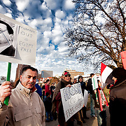 Demonstrations by Egyptian Americans in Kansas City against Egyptian President Hosni Mubarak during rioting and unrest in Egypt.