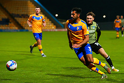 Malvind Benning of Mansfield Town runs on the ball - Mandatory by-line: Ryan Crockett/JMP - 20/11/2020 - FOOTBALL - One Call Stadium - Mansfield, England - Mansfield Town v Colchester United - Sky Bet League Two