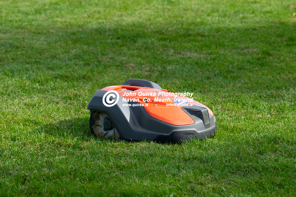 23-04-21. Ballinabrackey GAA Club Pitch and Facilities.<br />A Hisquina lawn mower cutting the grass.<br />Photo: John Quirke / www.quirke.ie<br />©John Quirke Photography, 16 Proudstown Road, Navan. Co. Meath. (info@quirke.ie / 046-9028461 / 087-2579454).