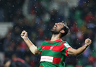 Maritimo´s player Maurício  celebrate after scoring a goal during thePortuguese First League football match C.S. Maritimo vs S.L. Benfica held at Barreiros Stadium, Funchal, Portugal, 01 December, 2016.