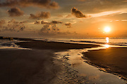 Sunrise at Isle of Palms beach at Wild Dunes near Charleston, South Carolina.