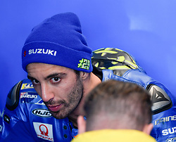 October 26, 2018 - Melbourne, Victoria, Australia - Italian rider Andrea Iannone (#29) of Team SUZUKI ECSTAR speaks with his mechanics during day 2 of the 2018 Australian MotoGP held at Phillip Island, Australia. (Credit Image: © Theo Karanikos/ZUMA Wire)