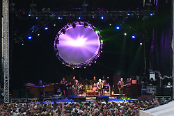 The Band and Show Lights from the back of the Stadium in the bleachers. Furthur Band at McCoy Stadium, Pawtucket RI on 5 July 2012