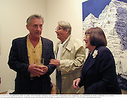 Ed Ruschha and Mr. and Mrs. Helmut Newton. Ed Ruschha Mountains and Highways pv. Anthony d'Offay, London. 5/5/2000<br />© Copyright Photograph by Dafydd Jones 66 Stockwell Park Rd. London SW9 0DA Tel 020 7733 0108 www.dafjones.com