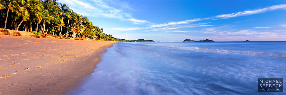 A beautiful clear morning unfolds on Clifton Beach, near Palm Cove.<br /> <br /> Code: HAQT0012<br /> <br /> Limited Edition Print