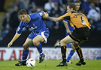 Fotball<br /> Foto: SBI/Digitalsport<br /> NORWAY ONLY<br /> <br /> <br /> Rochdale United v Wolverhampton Wanderers<br /> Coca-Cola cup Round 1<br /> 23/08/2004.<br /> <br /> Rochdale's Grant Holt and Wolves Jody Craddock