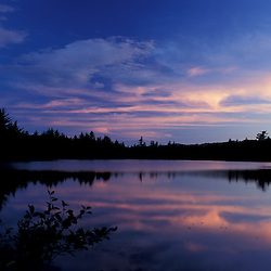 Freedom, NH.Sunset over Trout Pond in Freedom, NH.  New Hampshire Lakes Region.