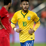 Brazil's Neymar JR during their a international friendly soccer match Turkey betwen Brazil at Sukru Saracoglu Arena in istanbul November 12, 2014. Photo by Aykut AKICI/TURKPIX