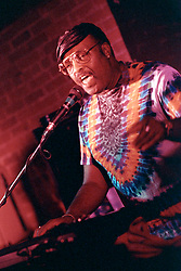 Merl Saunders performing at the Municipal Cafe with his Rainforest Band, Hartford CT, 7 November 1993