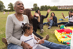 Lordship Hub Co-Op Parents/Carers & Toddlers Group outing to Lordship Recreation Ground, London Borough of Haringey, North London UK, with volunteers & parents/carers