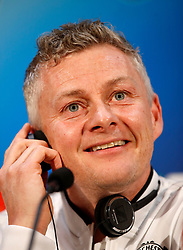 Manchester United caretaker manager Ole Gunnar Solskjaer during the press conference at Aon Training Complex, Manchester.