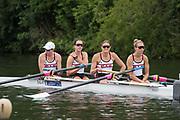 Henley-on-Thames. United Kingdom.  <br /> Women's Four, New York Athletic Club, O. COFFEY, K. SIMMONDS,  Susan FRANCIA and Felice MUELLER, USA<br /> 2017 Henley Royal Regatta, Henley Reach, River Thames. <br /> <br /> 15:24:31  Saturday  01/07/2017   <br /> <br /> [Mandatory Credit. Peter SPURRIER/Intersport Images.