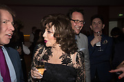 JOAN COLLINS; PERCY GIBSON, Bonhams host a private view for their  forthcoming auction: Jackie Collins- A Life in Chapters' Bonhams, New Bond St.  3 May 2017.