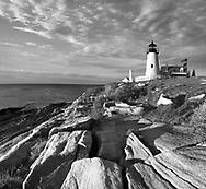 The Pemaquid Point Lighthouse At Sunrise, Bristol, Maine, USA