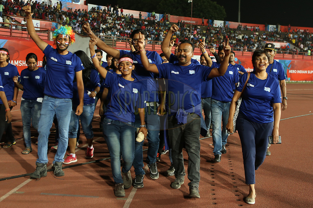 Mission Ganga during match 25 of the Hero Indian Super League 2018 ( ISL ) between Jamshedpur FC and FC Goa held at JRD Tata Sports Complex, Jamshedpur, India on the 1st November  2018<br /> <br /> Photo by: Ron Gaunt /SPORTZPICS for ISL