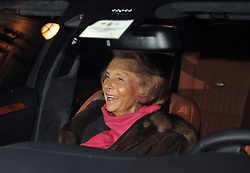 File photo - Liliane Bettencourt and her daughter Francoise Bettencourt-Meyers leave Giorgio Armani Prive Spring-Summer 2011 Haute-Couture in Paris, France on January 24, 2011. Liliane Bettencourt has died aged 94 it was announced on September 21, 2017. Bettencourt was the richest person in France and the third-richest woman in the world with a net worth of $40 billion. She was the sole heir to L'Oreal, the largest cosmetics company in the world, which was started by her father, and a large shareholder in Nestle. Nearly a decade ago a trial forced Liliane's personal business into the public light, laid bare her obsession with a flashy homosexual photographer whom she turned into a billionaire, destroyed her relationship with her daughter, turned a long time family butler against her, and, finally, turned the dowager heiress into even more of a recluse than she had been before. Photo by ABACAPRESS.COM