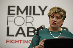 © Licensed to London News Pictures. 17/01/2020. Guildford, UK. Shadow Foreign Secretary Emily Thornberry launches her Labour Party leadership campaign in her home town of Guldford in Surrey. Ms Thornberry will join the four other candidates in Liverpool tomorrow for the first of 12 official leadership hustings. Photo credit: Peter Macdiarmid/LNP