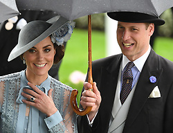 Members of The Royal Family attend the first day of Royal Ascot, Ascot Racecourse, Ascot, Berkshire, UK, on the 18th June 2019. 18 Jun 2019 Pictured: Catherine, Duchess of Cambridge, Kate Middleton, Prince William, Duke of Cambridge. Photo credit: James Whatling / MEGA TheMegaAgency.com +1 888 505 6342