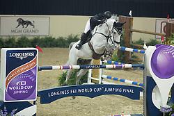 Schroder Gerco, (NED), Glocks Cognac Champblanc<br /> Longines FEI World Cup™ Jumping Final III round 1<br /> Las Vegas 2015<br />  © Hippo Foto - Dirk Caremans<br /> 19/04/15