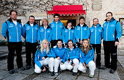 Official photo of  Slovenia Alpine Ski team for European Youth Olympic Festival (EYOF) in Liberec (CZE) at official presentation, on February  9, 2011 at Bled Castle, Slovenia. (Photo By Vid Ponikvar / Sportida.com)