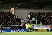 Suspicious package causing delay to kick off of the second half during the EFL Sky Bet Championship match between Burton Albion and Ipswich Town at the Pirelli Stadium, Burton upon Trent, England on 14 April 2017. Photo by Richard Holmes.