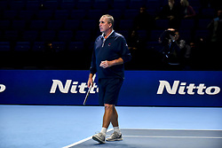 November 16, 2018 - London, United Kingdom - Former world no. 1 Ivan Lendl is seen on court during Day Six of the Nitto ATP Finals at The O2 Arena on November 16, 2018 in London, England. (Credit Image: © Alberto Pezzali/NurPhoto via ZUMA Press)