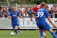 AFC Wimbledon midfielder Mitchell (Mitch) Pinnock (11) dribbling into box during the EFL Sky Bet League 1 match between AFC Wimbledon and Scunthorpe United at the Cherry Red Records Stadium, Kingston, England on 15 September 2018.
