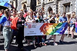 Norwich Pride, 28 July 2018 UK - JLL, local property & investment company