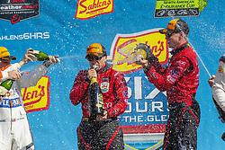 July 1, 2018 - Watkins Glen, New York, United States of America - CHRIS MILLER of the United States, STEPHEN SIMPSON of South Africa and MISHA GOLKBERG of Canada, celebrate after winning the Sahlen's Six Hours At The Glen at Watkins Glen International Raceway in Watkins Glen, New York. (Credit Image: © Walter G Arce Sr Asp Inc/ASP via ZUMA Wire)