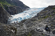 Walking up to the Exit Glacier, Harding Icefield in the Kenai Mountains, Alaska, USA<br /> <br /> Photographer: Christina Sjögren<br /> <br /> Copyright 2019, All Rights Reserved