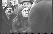 Bernadette Devlin McAliskey at an Anti-Apartheid Demonstrations at Ireland vs South Africa.10/01/1970