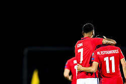 October 5, 2017 - San Marino, SAN MARINO - 171005 Joshua King and Mohamed Elyounoussi of Norway  celebrate 5-0 during the FIFA World Cup Qualifier match between San Marino and Norway on October 5, 2017 in San Marino. .Photo: Fredrik Varfjell / BILDBYRN / kod FV / 150027 (Credit Image: © Fredrik Varfjell/Bildbyran via ZUMA Wire)