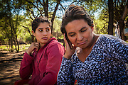 2014/11/23 – Quimili, Argentina: Salto Rosa Graciela (41) and her daughter Carina Maribel Salto (15), suffer both of health problems due to the soya plantantions close to their house in the allotment number 4 of the Guaycurú Indigenous Community. Many health related illness like cancer, respiratory diseases and suddenly abortions accur in areas where soy is cultivated. (Eduardo Leal)