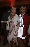 Jibby Beane and Susie Godson, launch of Body Craze, Selfridges. Oxford St. 6 May 2003. © Copyright Photograph by Dafydd Jones 66 Stockwell Park Rd. London SW9 0DA Tel 020 7733 0108 www.dafjones.com