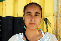 USA, Chicago, August 25, 2009.   Carolina Macias, 16, has spent most of her free time volunteering for LVEJO, and wants to be a doctor specializing in public health. The Little Village Environmental Justice Organization, headquartered in a predominantly Mexican-American neighborhood of Chicago, campaigns not only against pollution but for clean power, park facilities, urban agriculture, and restoring public transit. LVEJO's staff and volunteers make significant outreach and education efforts, especially for youth. Photo for an HOY feature story by Jay Dunn.