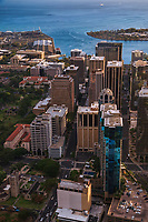 Alakea (left) & Bishop Streets, Downtown Honolulu