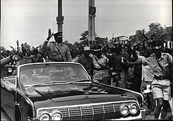 Jan. 01, 1971 - Credit: Camerapix Ugandan Head of State, Major General Idi Amin being cheered by crowds after the swearing-in ceremony at Kolo airstrip, the place where Uganda Independence celebration was held. (Credit Image: © Keystone Press Agency/Keystone USA via ZUMAPRESS.com)