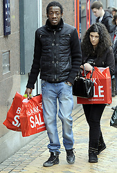 © Licensed to London News Pictures. 24/12/2012.Mad Monday last minute Christmas shopping..Christmas eve shoppers in Bromley High Street,South East London.Shoppers looking for a bargain as shops start the Christmas Sales..today.Photo credit : Grant Falvey/LNP