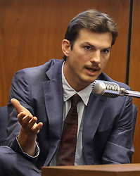 May 29, 2019 - Los Angeles, California , U.S. - ASHTON KUTCHER testifies in the murder trial of alleged serial killer Michael Gargiulo at Los Angeles Superior Court. (Credit Image: © Frederick M. Brown/Pool/ZUMA Wire)