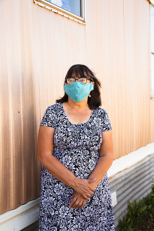 Vickie Salazar, photographed for Taos New Mexico's local newspaper, Tempo, 2020.