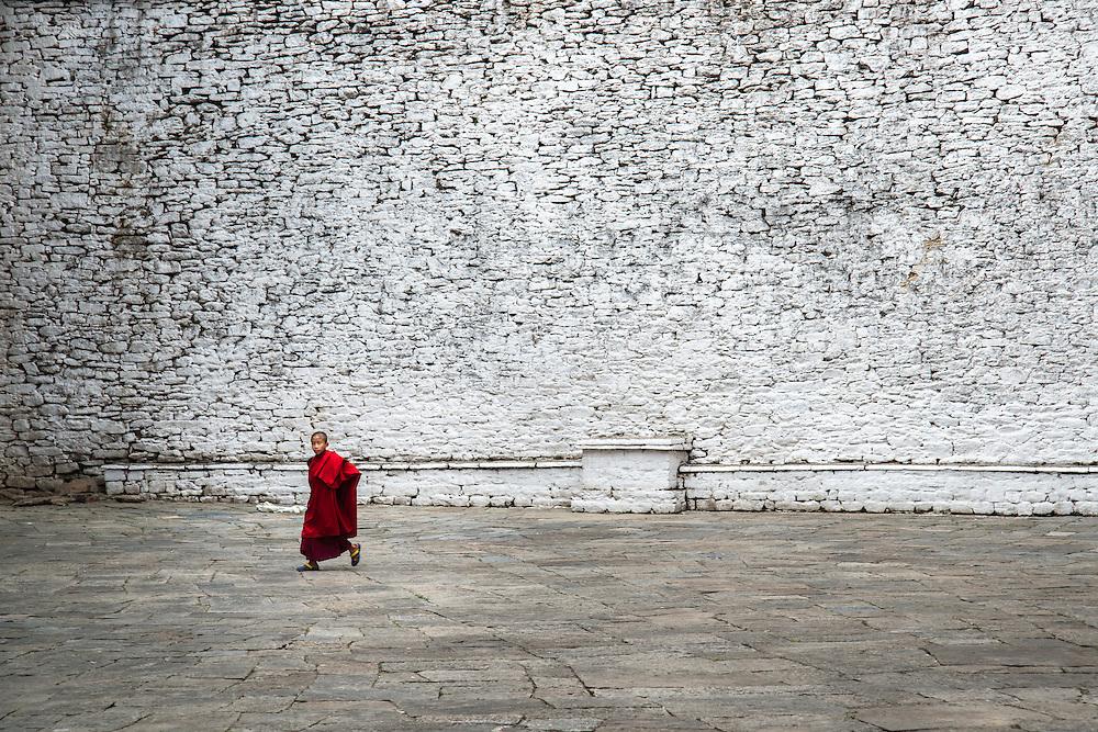 Young Monk in Trongsa Dzong, Bhutan