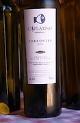 A bottle of Cisplatino Pequena Reserva Torrontes 2005 Rio de la Plata Bodega Pisano Winery, Progreso, Uruguay, South America