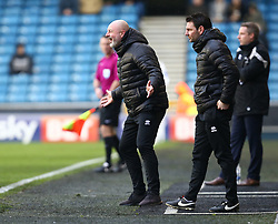 January 27, 2018 - London, United Kingdom - Rochdale manager Keith Hill .during FA Cup 4th Round match between Millwall against Rochdale  at The Den, London on 27 Jan 2018  (Credit Image: © Kieran Galvin/NurPhoto via ZUMA Press)