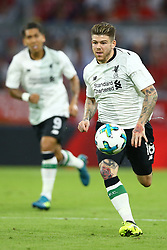 August 1, 2017 - Munich, Germany - Alberto Moreno of Liverpool during the second Audi Cup football match between FC Bayern Munich and FC Liverpool in the stadium in Munich, southern Germany, on August 1, 2017. (Credit Image: © Matteo Ciambelli/NurPhoto via ZUMA Press)