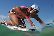 GOLD COAST, AUSTRALIA - APRIL 19:  Competitor for Cudgen Headland SLSC  paddles the board portion of the Open Ironman during the 2013 Australian National Surf Lifesaving Titles  on April 17, 2013 on the Gold Coast, Australia.  (Photo by Matt Roberts/Getty Images)