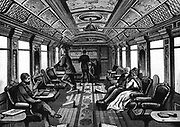 Saloon car on the Orient Express. Wood engraving published Leipzig c1895.