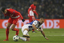 December 6, 2017 - Porto, Porto, Portugal - Rachid Ghezzal midfielder of AS Monaco FC (L) with Porto's Portuguese midfielder Andre Andre (R) during the UEFA Champions League Group G match between FC Porto and AS Monaco FC at Dragao Stadium on December 6, 2017 in Porto, Portugal. (Credit Image: © Dpi/NurPhoto via ZUMA Press)
