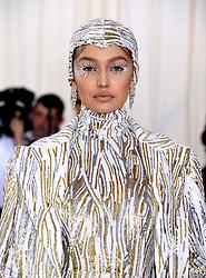 Gigi Hadid attending the Metropolitan Museum of Art Costume Institute Benefit Gala 2019 in New York, USA.