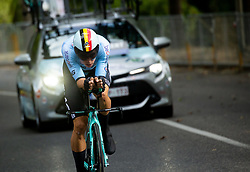 VAN AERT Wout of Belgium competes during Men Time Trial at UCI Road World Championship 2020, on September 24, 2020 in Imola, Italy. Photo by Vid Ponikvar / Sportida